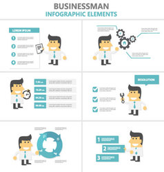 Business activity Infographic elements flat design vector image