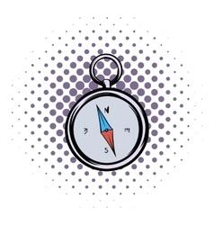 Compass comics icon vector image vector image