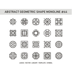Abstract geometric shape monoline 64 vector
