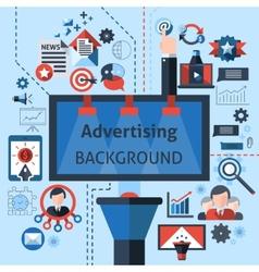 Advertising Marketing Background vector