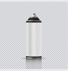 aerosol can with empty label realistic vector image