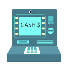 atm cash money payment or withdrawal flat vector image