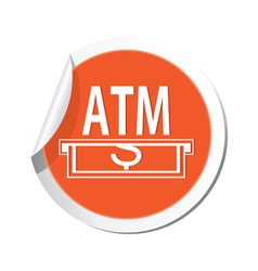 Atm ORANGE LABEL vector