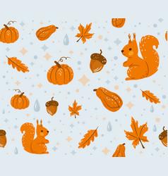 Autumn seamless pattern background vector