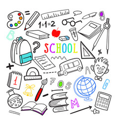 Back to school hand drawn doodle education vector