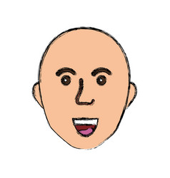 Bald man smiling vector