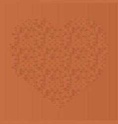 bicks heart shape vector image