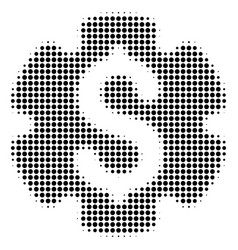 Black dotted financial settings gear icon vector