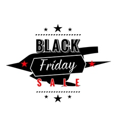 black friday sale badges and labels vector image