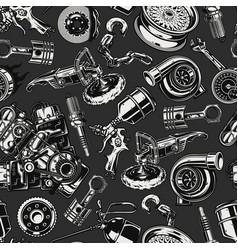 Car repair service vintage seamless pattern vector