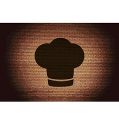 Chef cap Cooking Flat modern web button and space vector image