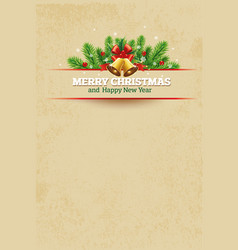 christmas vintage greeting card background vector image