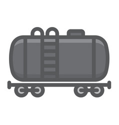 cistern oil train filled outline icon logistic vector image