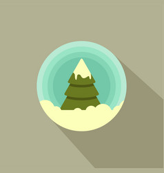 color icon of a christmas tree in the snow vector image