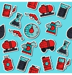 Colored oil industry pattern vector