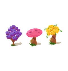 colorful fantastic plants nature landscape vector image