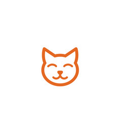 creative cat head logo vector image