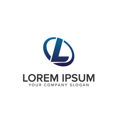 creative modern letter l logo design concept vector image