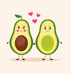 cute avocado avocado love 1 vector image