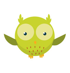 Cute funny owl forest bird decorative and style vector