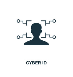 cyber id icon creative element design from vector image