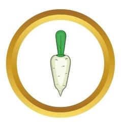 Daikon vegetable icon vector