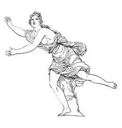 daphne vintage vector image