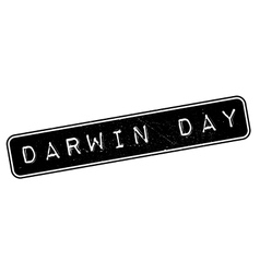 Darwin Day rubber stamp vector