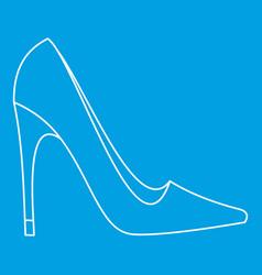 elegant women high heel shoe icon outline style vector image