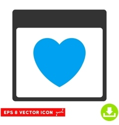 Favourite Heart Calendar Page Eps Icon vector