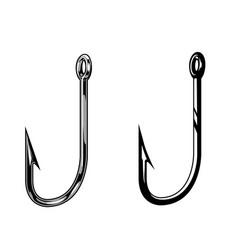 Fishing hooks vintage concept vector