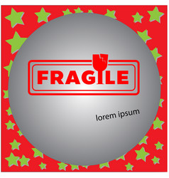 fragile clean stamp isolated vector image