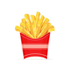 french fries potatoes in paper vector image