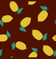 fresh lemon fruit seamless pattern vector image