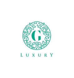 g letter logo luxurybeauty cosmetics logo vector image