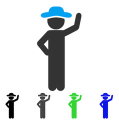Gentleman assurance flat icon vector