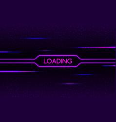 glitch neon loading cyberpunk futuristic concept vector image
