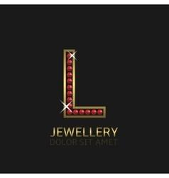 Golden Letter L vector image