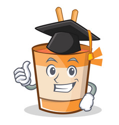 Graduation cup noodles character cartoon vector