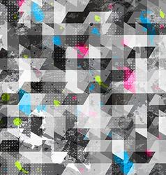 Grunge geometric seamless texture vector