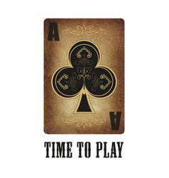 grunge poker card vector image