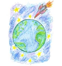 Hand Drawn Earth2 vector image