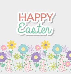 Happy easter celebration holiday design vector