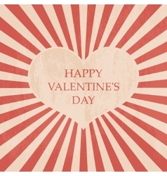 Happy Valentines day card Vintage vector image