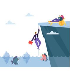 Hard danger way to financial prosperity vector