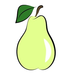 icon of pear vector image