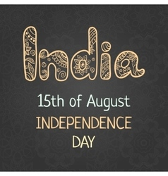 Indian independence day 15 august vector