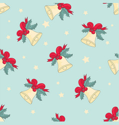 Jingle bells merry christmas seamless pattern vector