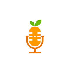 Juicy podcast logo icon design vector
