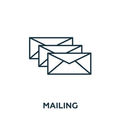 mailing icon symbol creative sign from vector image